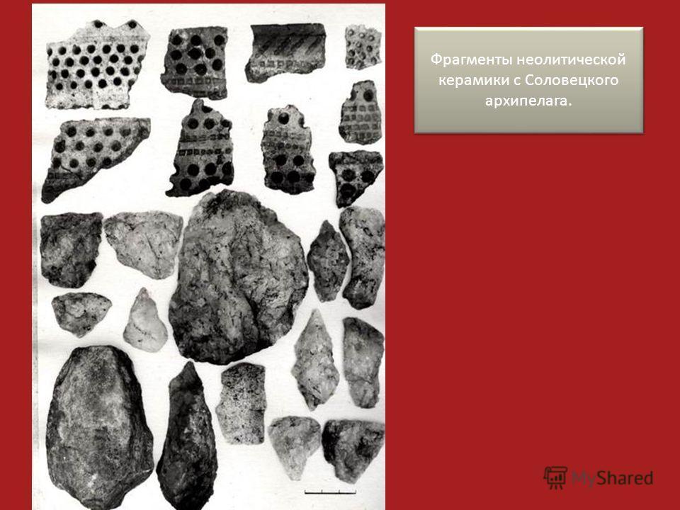 Фрагменты неолитической керамики с Соловецкого архипелага.