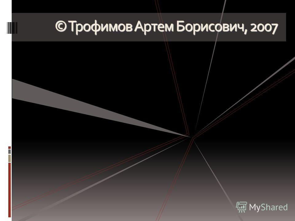© Трофимов Артем Борисович, 2007