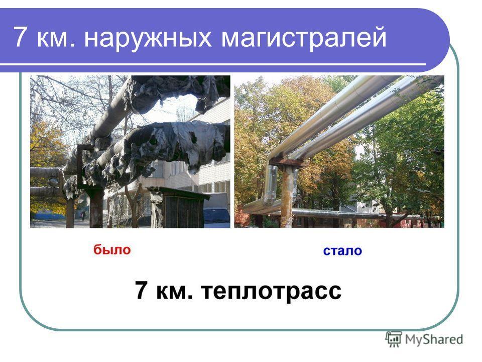 7 км. наружных магистралей