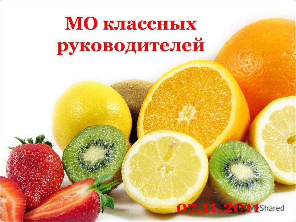 МО классных руководителей 07.11.2011