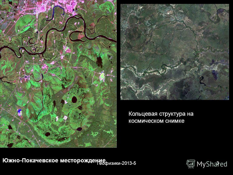 Геофизики-2013-53 Южно-Покачевское месторождение Кольцевая структура на космическом снимке