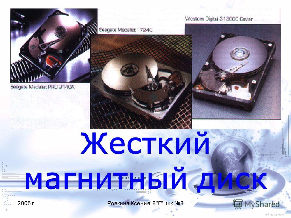2005 гРовкина Ксения, 8Г, шк 81 Жесткий магнитный диск