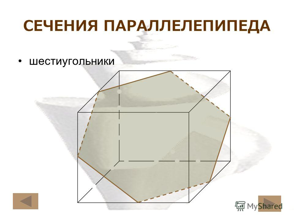 СЕЧЕНИЯ ПАРАЛЛЕЛЕПИПЕДА шестиугольники