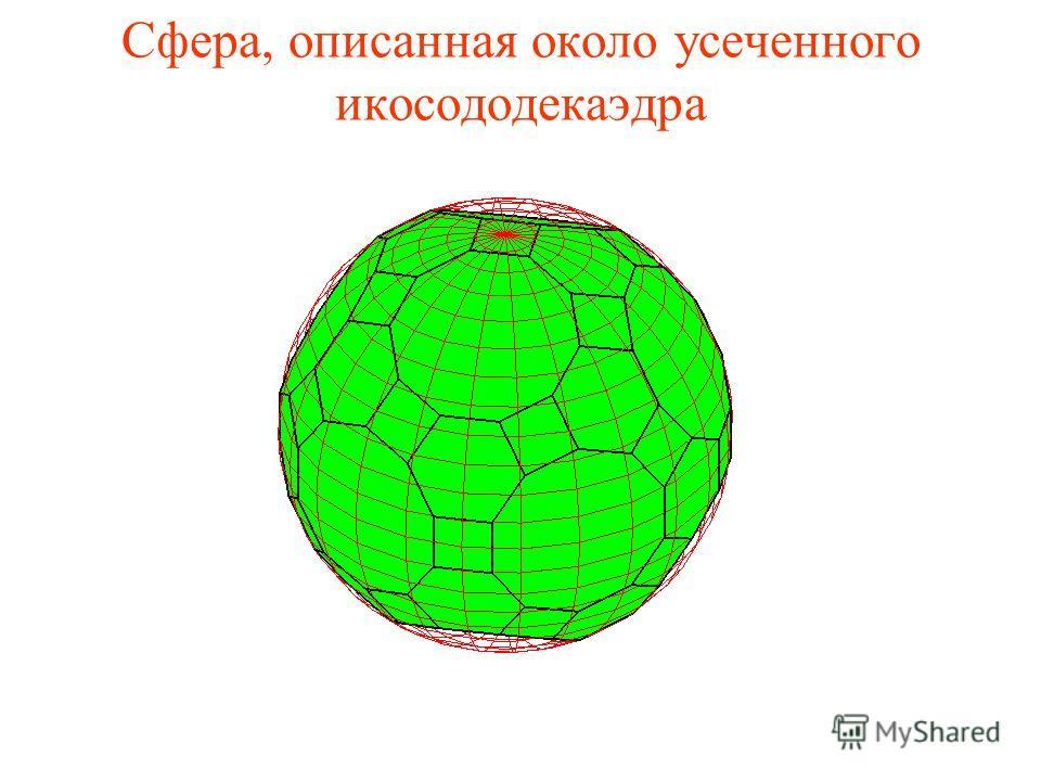 Сфера, описанная около усеченного икосододекаэдра