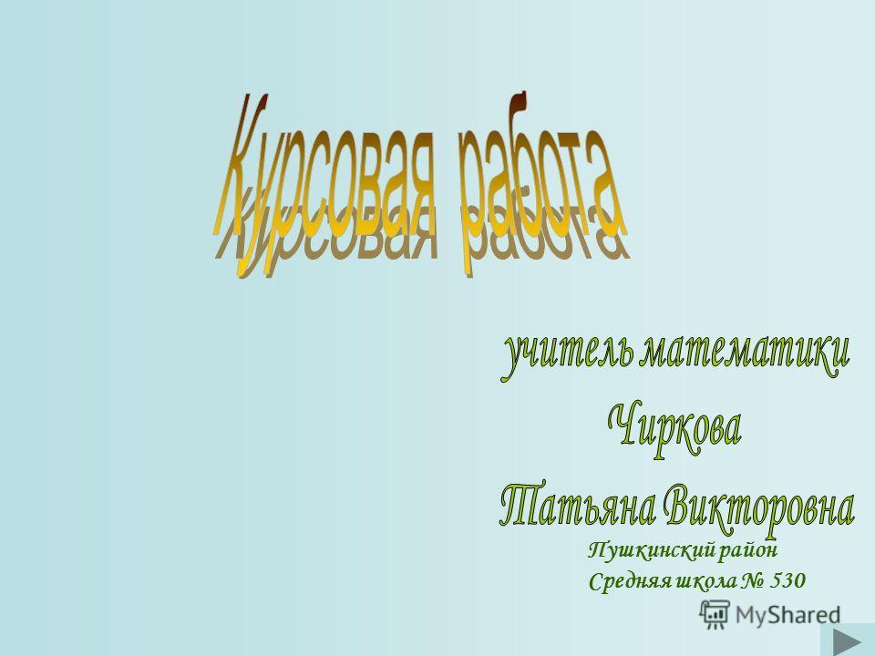 Пушкинский район Средняя школа 530