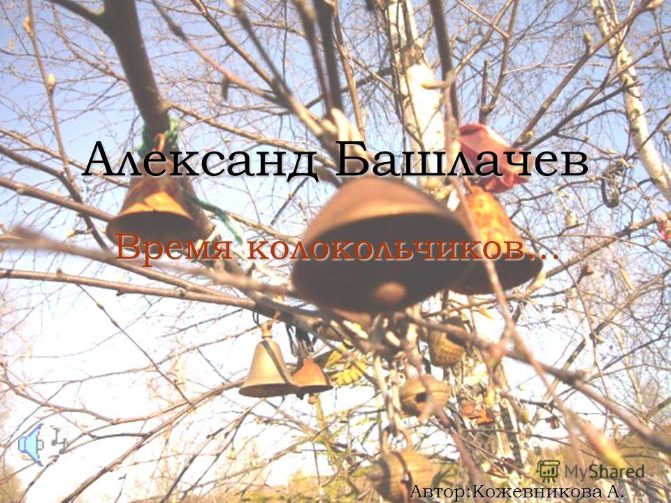 Александ Башлачев Время колокольчиков… Автор:Кожевникова А.