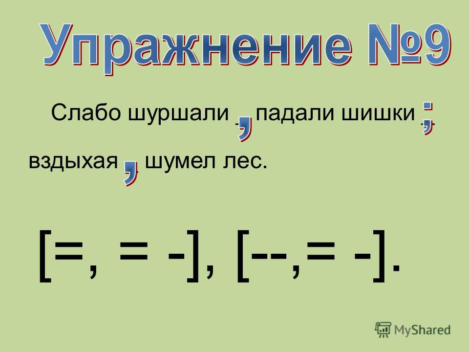 Слабо шуршали _ падали шишки _ вздыхая _ шумел лес. [=, = -], [--,= -].
