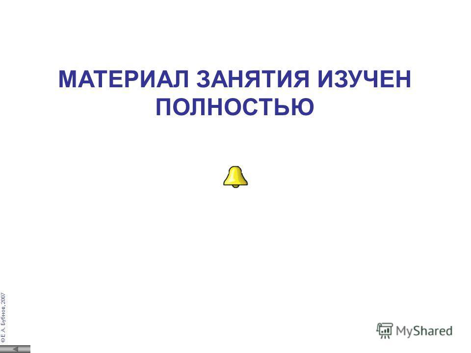 © Е.А. Бубнов, 2007 Тестовый контроль – подача на вход контролируемого устройства тесто- вого сигнала с последующим сравнением реактивного сигнала (сигналаотклика устройства) с эталонным