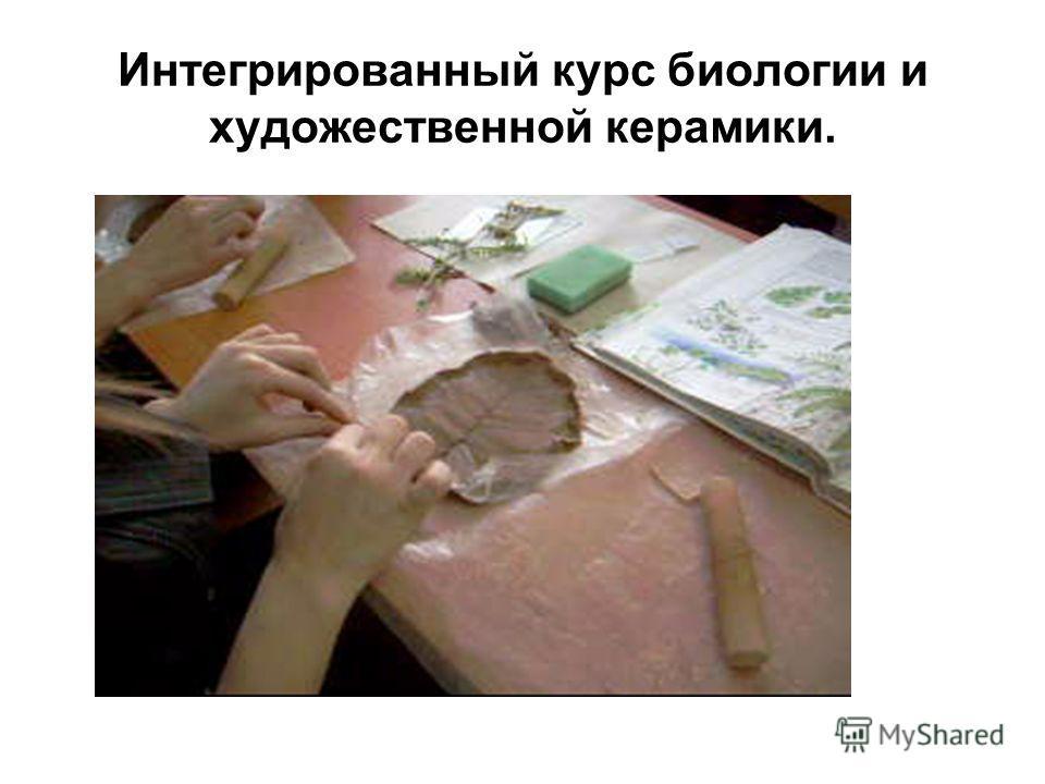 Интегрированный курс биологии и художественной керамики.