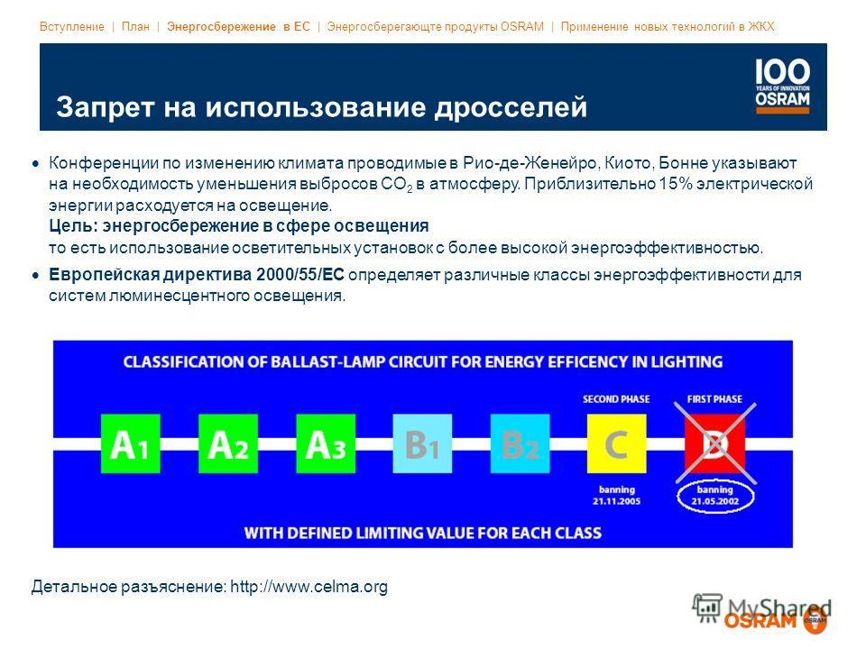 Event/Title | DD.MM.YYYY | Page 9 File name | Date: Latest status | Dept. abbreviation | Author's initials Запрет на использование дросселей Вступление | План | Энергосбережение в ЕС | Энергосберегающте продукты OSRAM | Применение новых технологий в