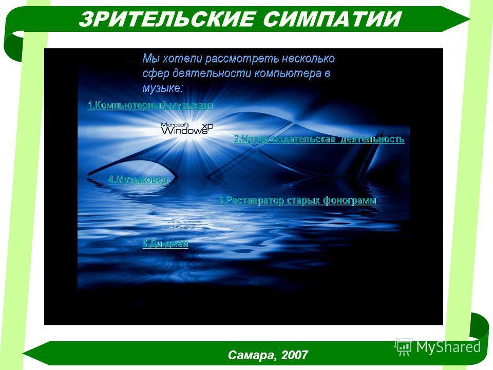 Самара, 2007 ЗРИТЕЛЬСКИЕ СИМПАТИИ
