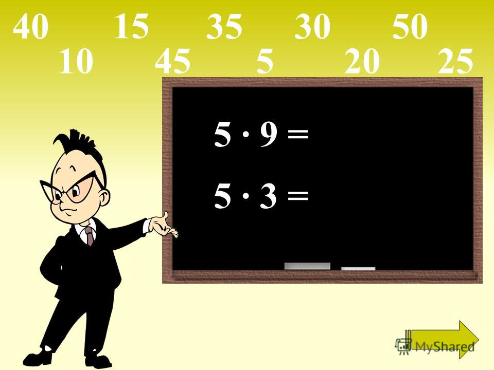 5 · 9 = 5 · 3 = 105 15 2025 303540 45 50