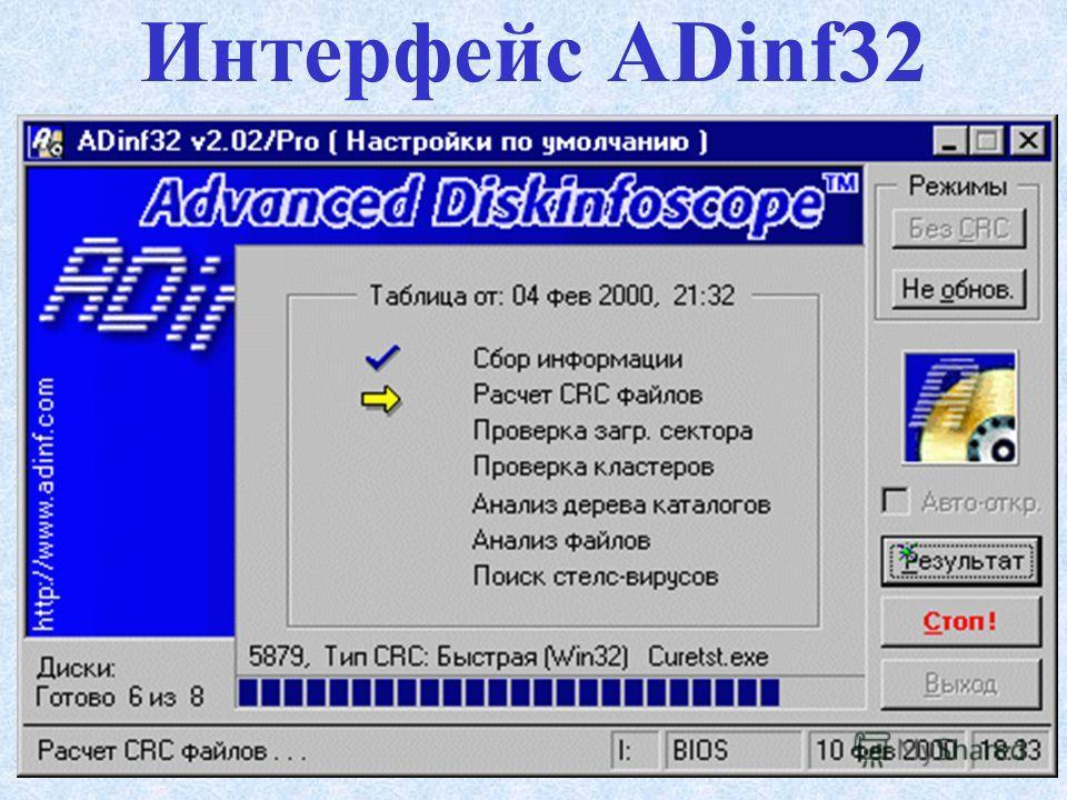 Интерфейс Dr. Web