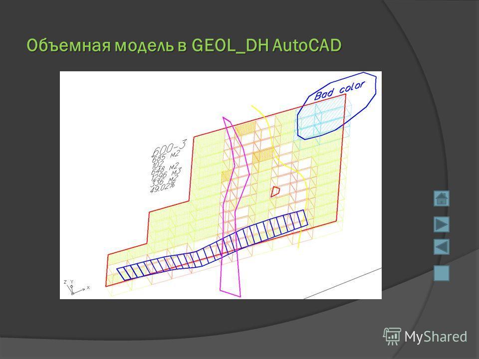 Объемная модель в GEOL_DH AutoCAD