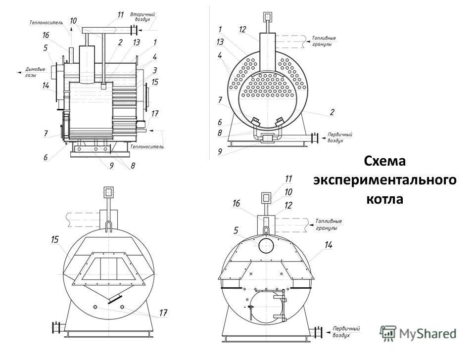 Схема экспериментального котла