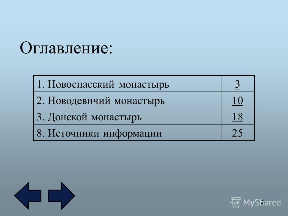 2 Оглавление: 1. Новоспасский монастырь3 2. Новодевичий монастырь10 3. Донской монастырь1818 8. Источники информации25
