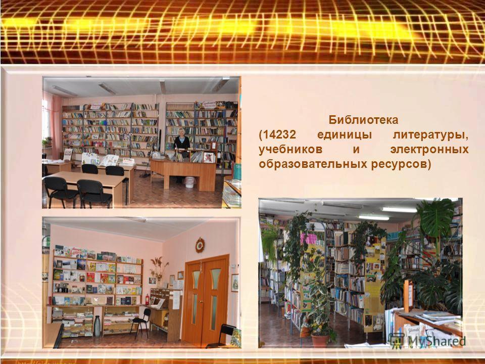 Библиотека (14232 единицы литературы, учебников и электронных образовательных ресурсов)