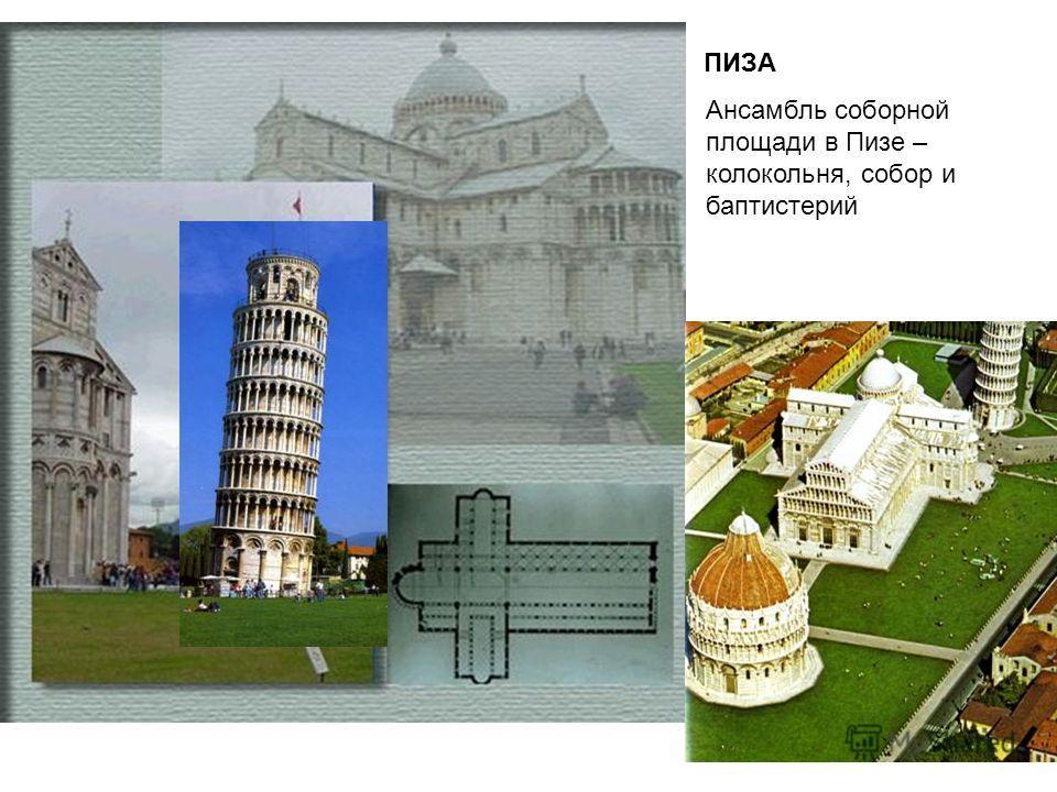 ПИЗА Ансамбль соборной площади в Пизе – колокольня, собор и баптистерий