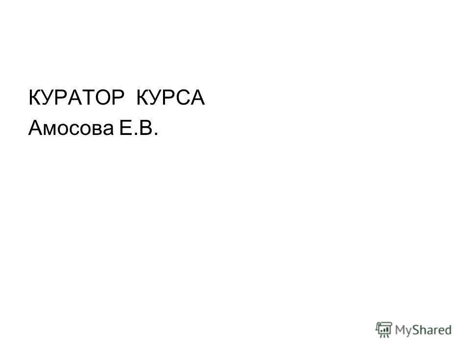 КУРАТОР КУРСА Амосова Е.В.