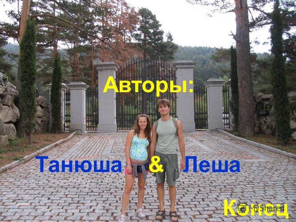 Конец Авторы: Танюша & Леша