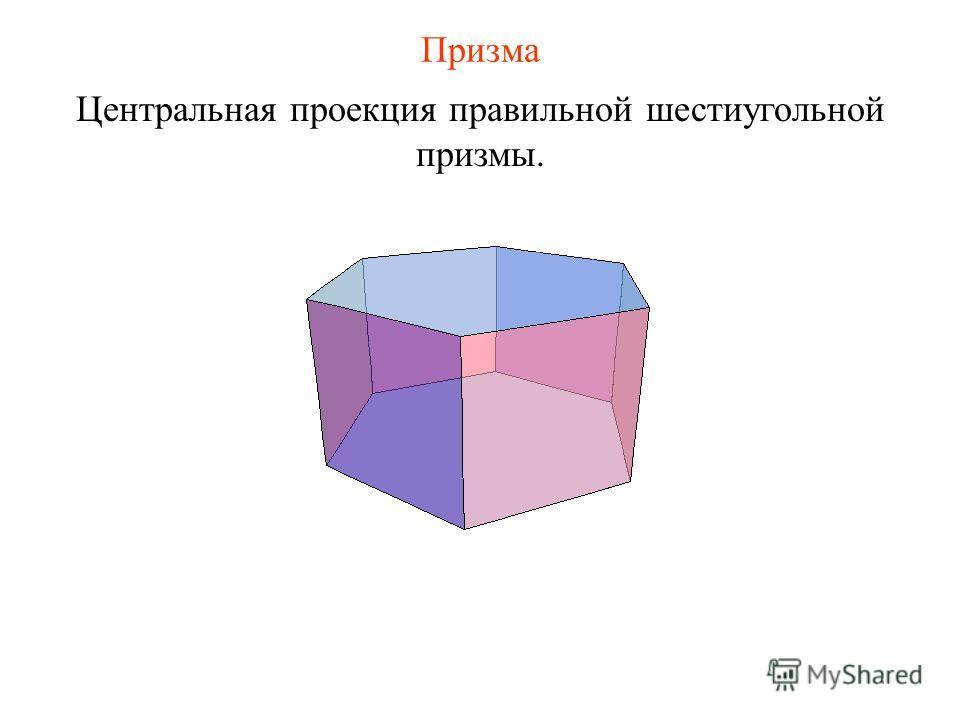Призма Центральная проекция правильной шестиугольной призмы.