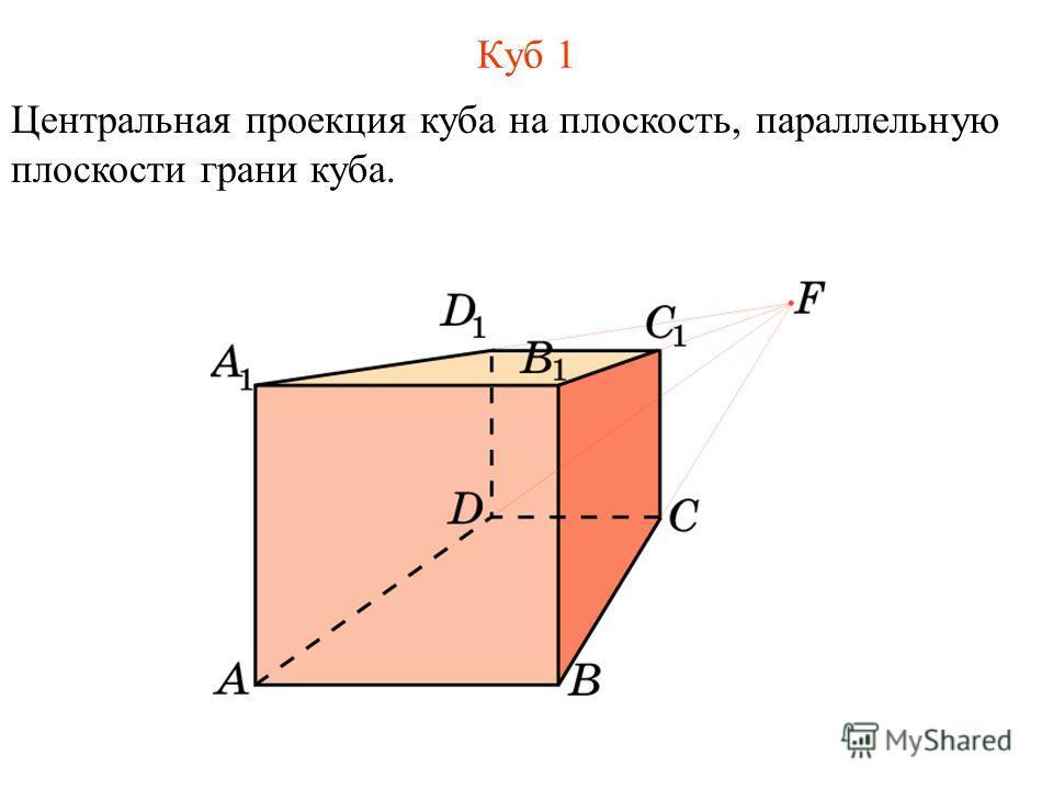 Куб 1 Центральная проекция куба на плоскость, параллельную плоскости грани куба.