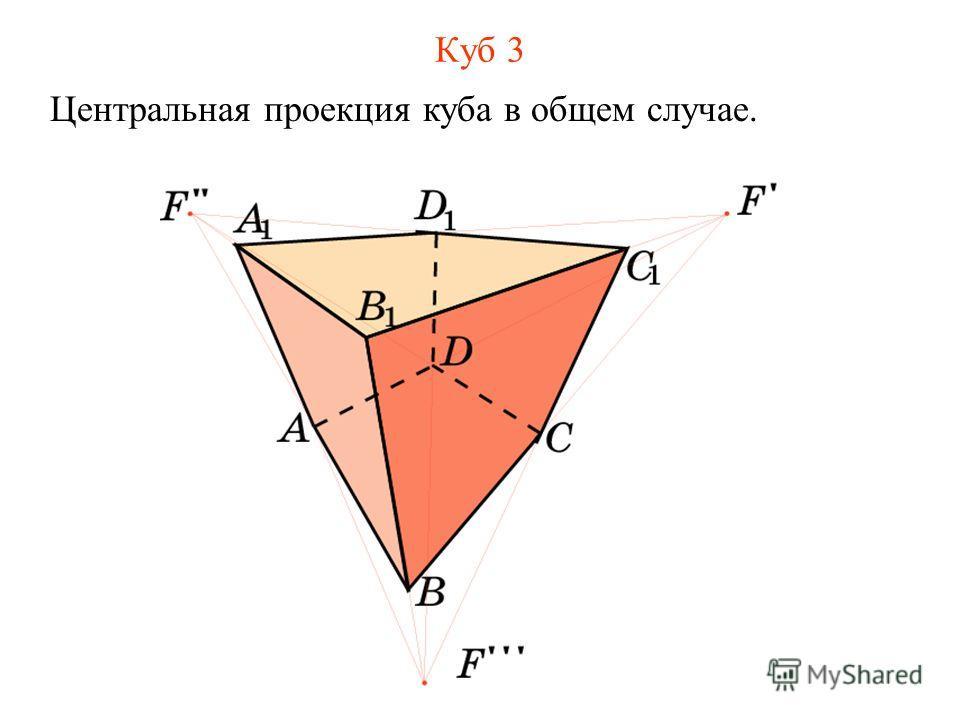 Куб 3 Центральная проекция куба в общем случае.