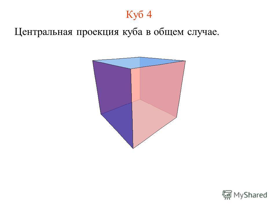 Куб 4 Центральная проекция куба в общем случае.