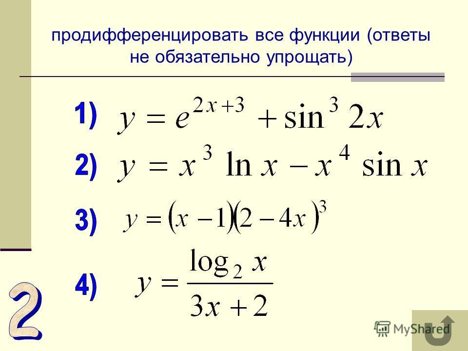 выбрать уравнение функции, невозрастающей на всей области определения