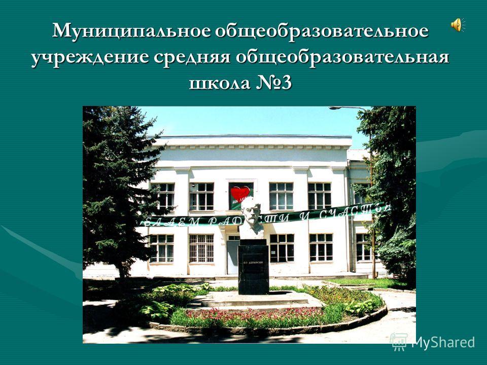 Муниципальное общеобразовательное учреждение средняя общеобразовательная школа 3