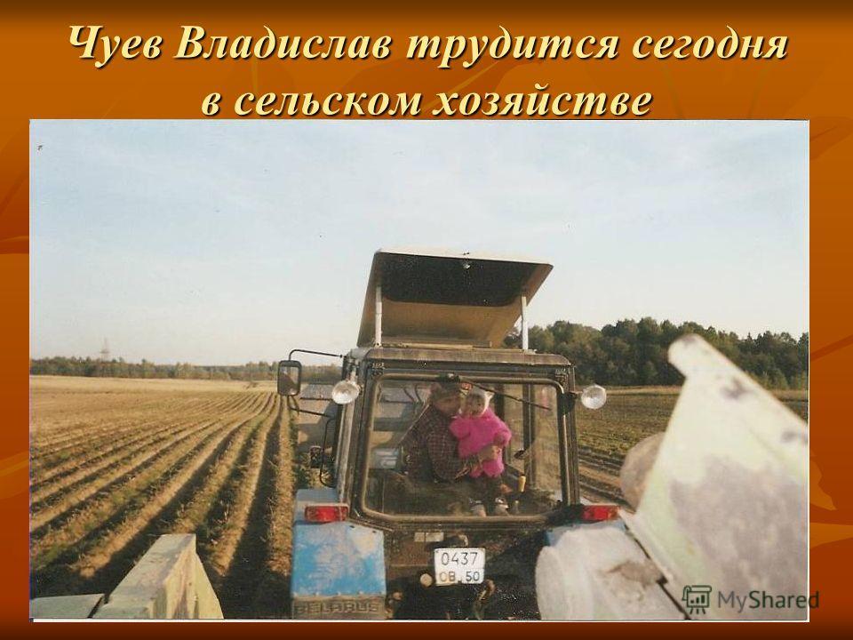 Чуев Владислав трудится сегодня в сельском хозяйстве