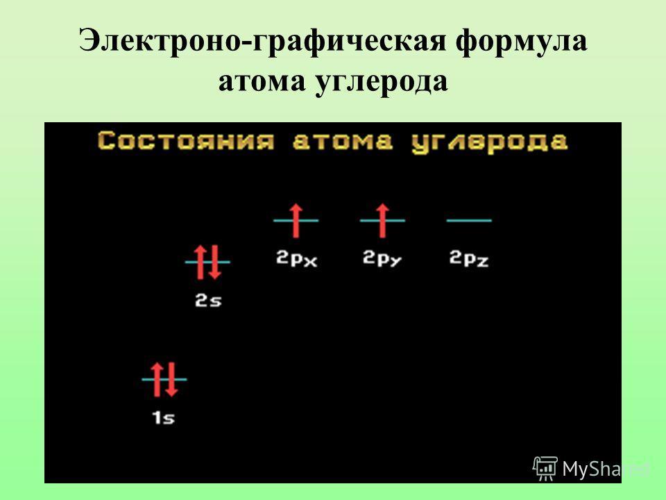 Электроно-графическая формула атома углерода