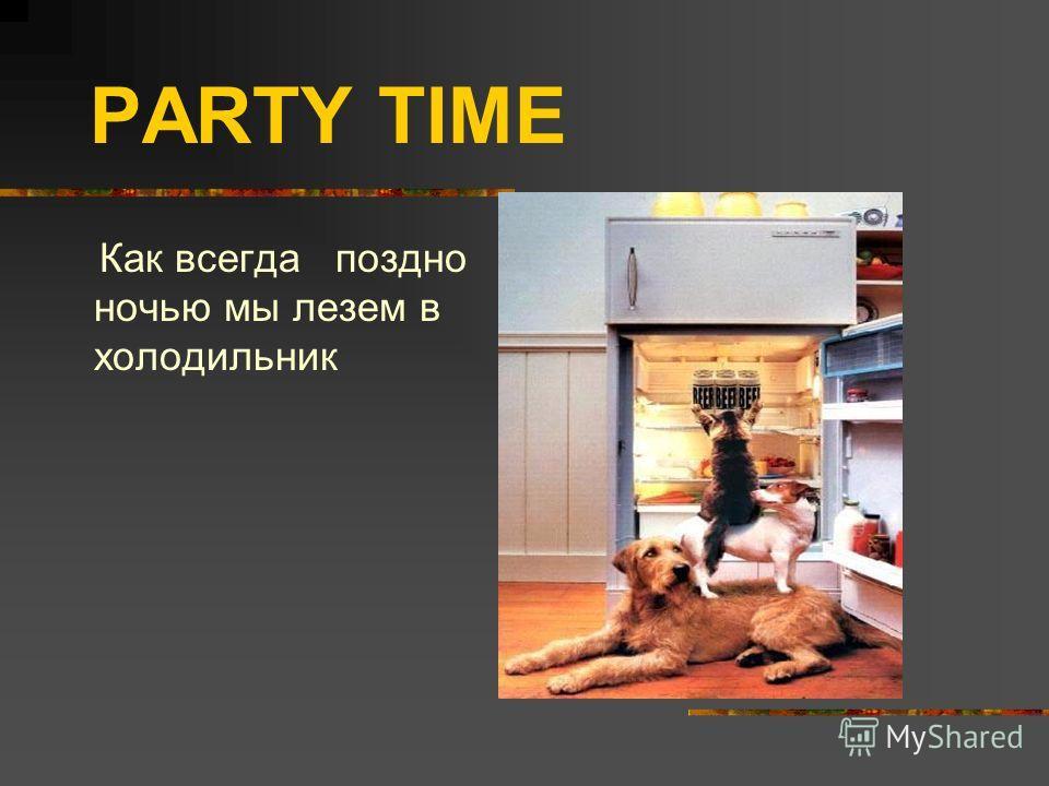 PARTY TIME Как всегда поздно ночью мы лезем в холодильник