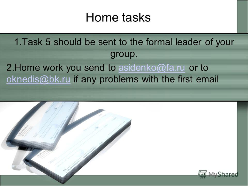 Variation This presentation should be read by students at home to be able to solve problems