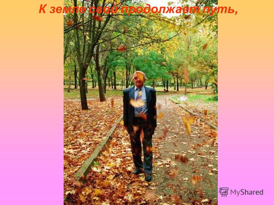 Настала осень. Лист опавший