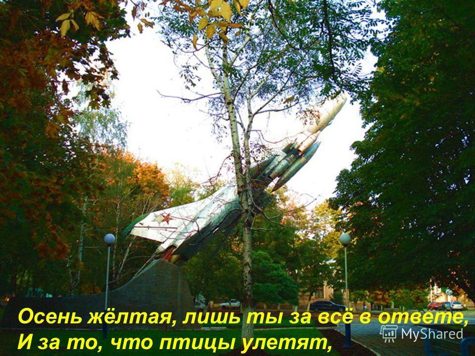 Как красиво в этом бабьем лете, Вихрем вальса кружит листопад,