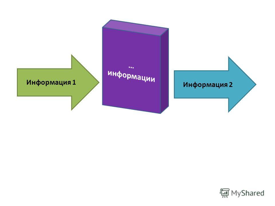 Информация 1 Информация 2
