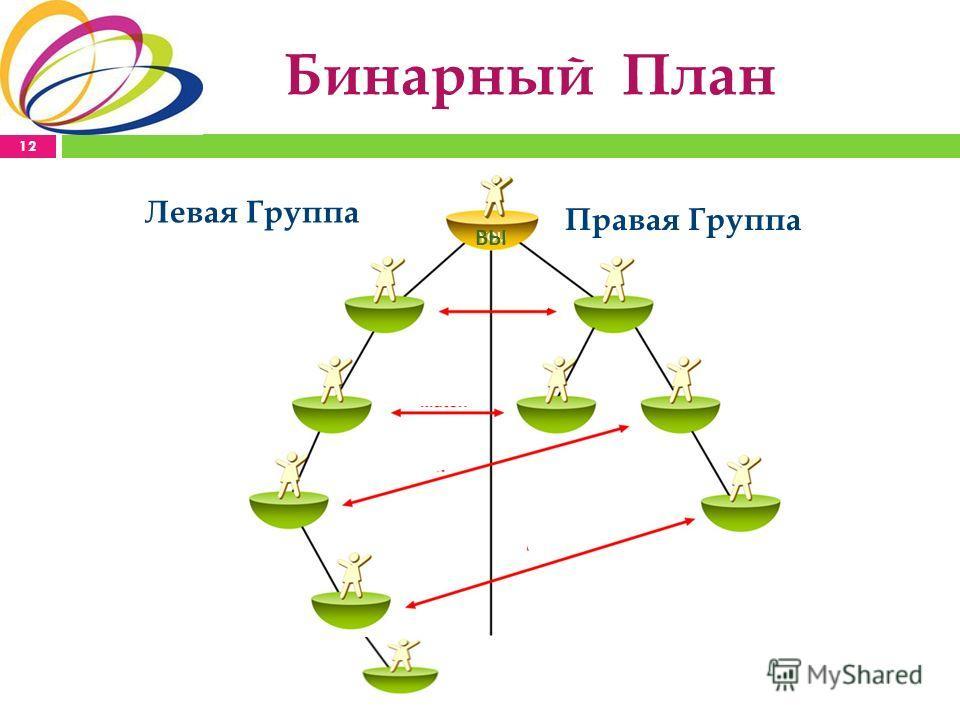 Бинарный План Левая Группа Правая Группа ВЫ 12