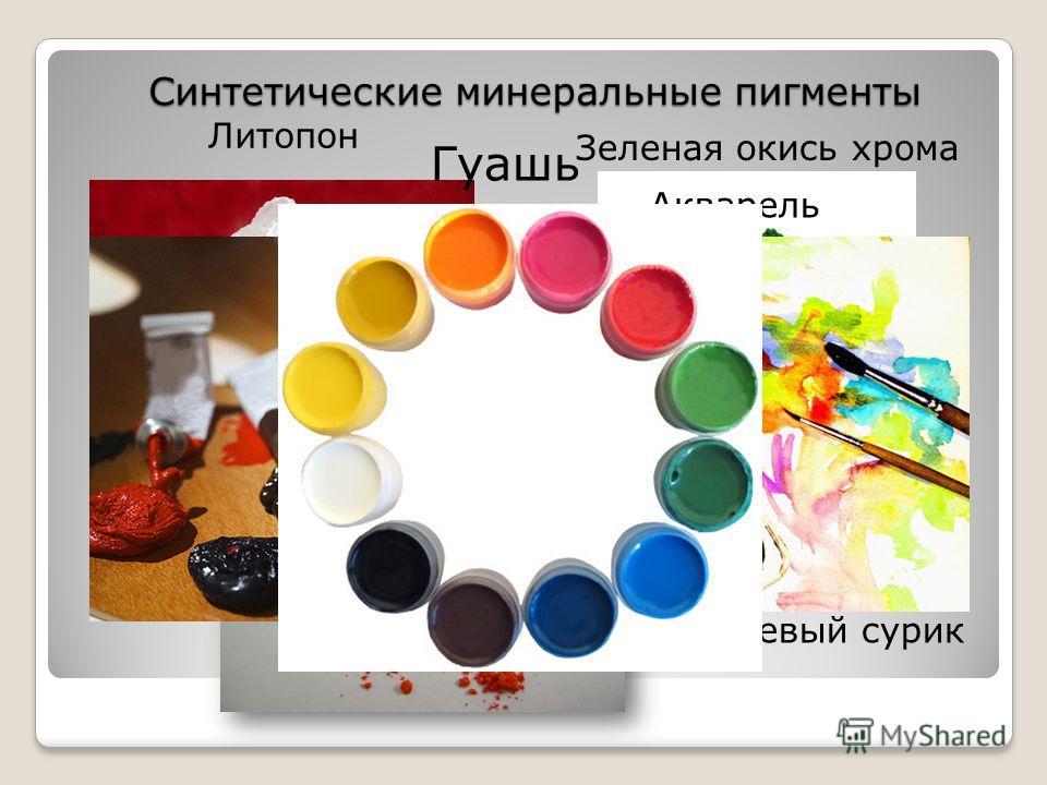 Синтетические минеральные пигменты Масляные краски Зеленая окись хрома Оранжевый сурик Литопон Гуашь Акварель