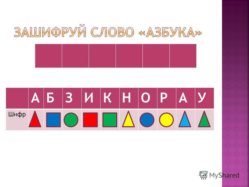 АБЗИКНОРАУ Шифр