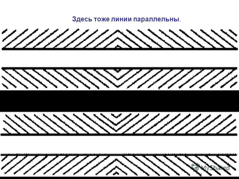 Здесь тоже линии параллельны.