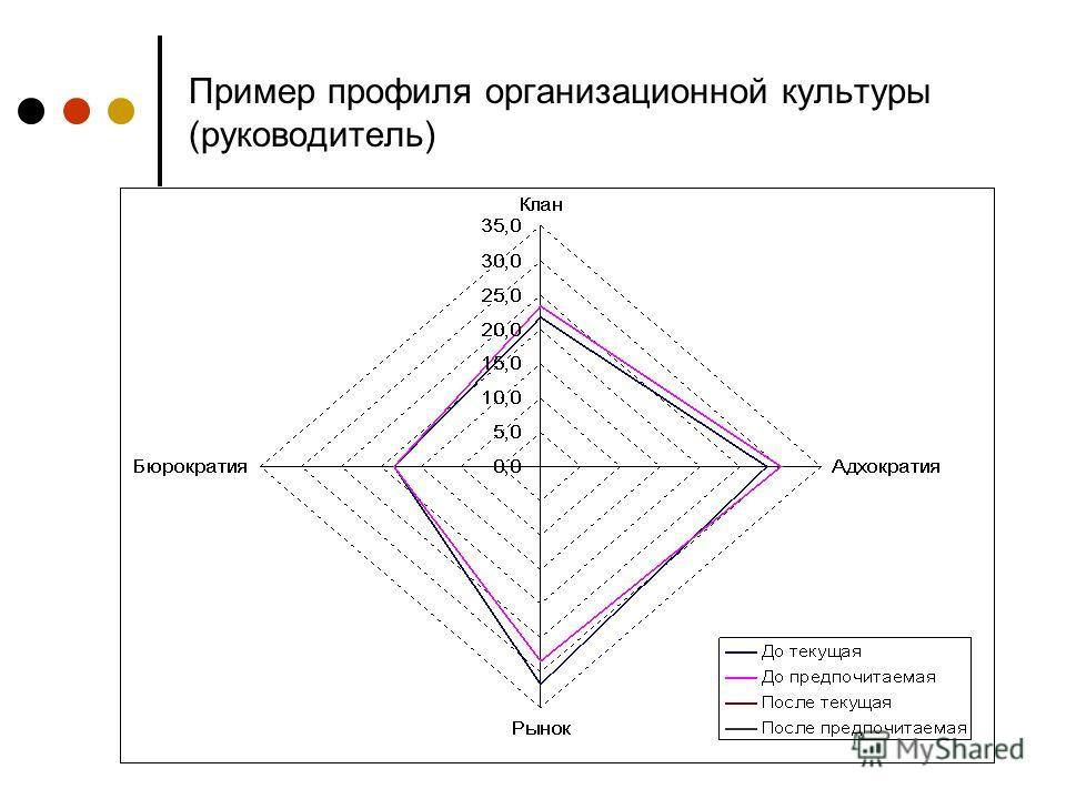 Пример профиля организационной культуры (руководитель)