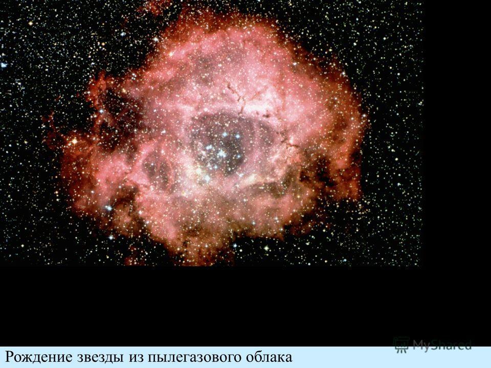 Рождение звезды из пылегазового облака