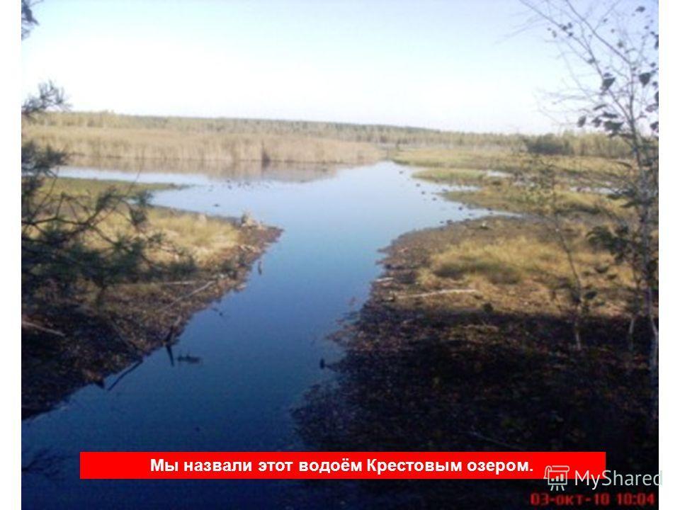 Мы назвали этот водоём Крестовым озером.