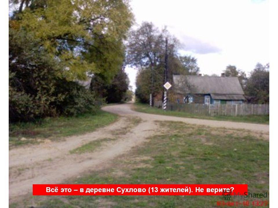 Всё это – в деревне Сухлово (13 жителей). Не верите?