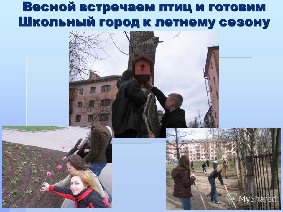 Весной встречаем птиц и готовим Школьный город к летнему сезону