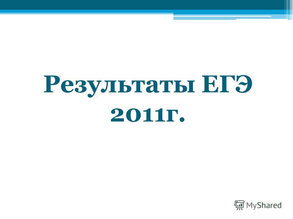 Результаты ЕГЭ 2011г.