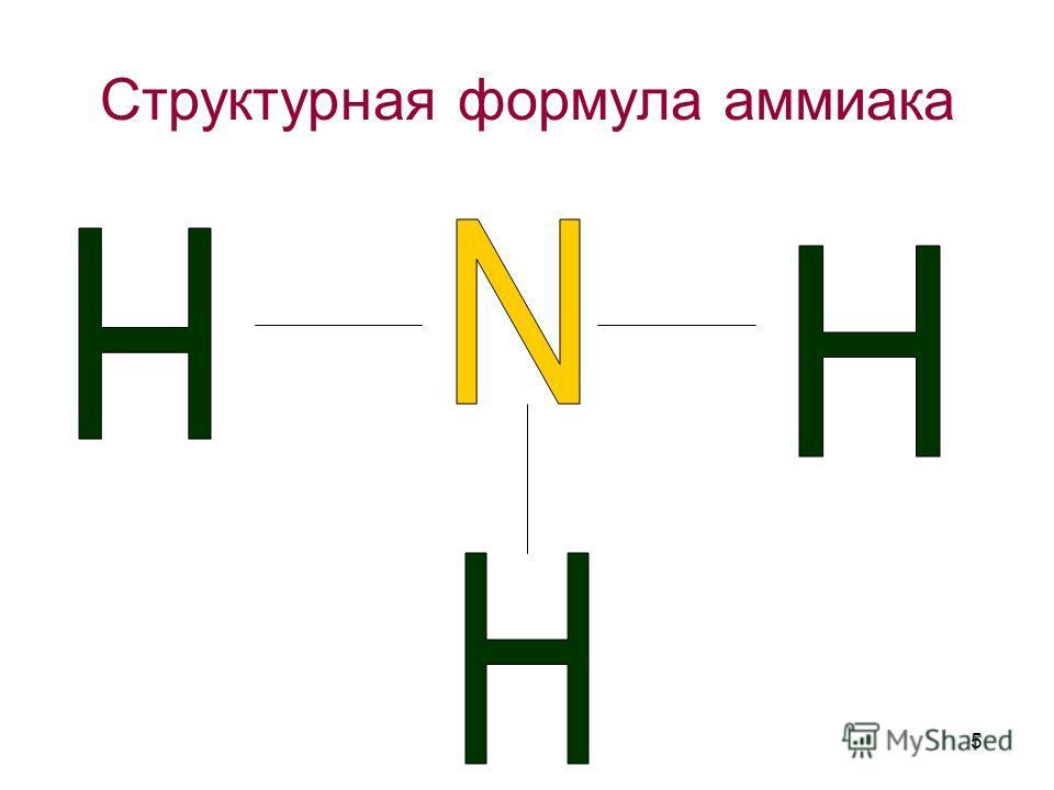 Структурная формула аммиака 5