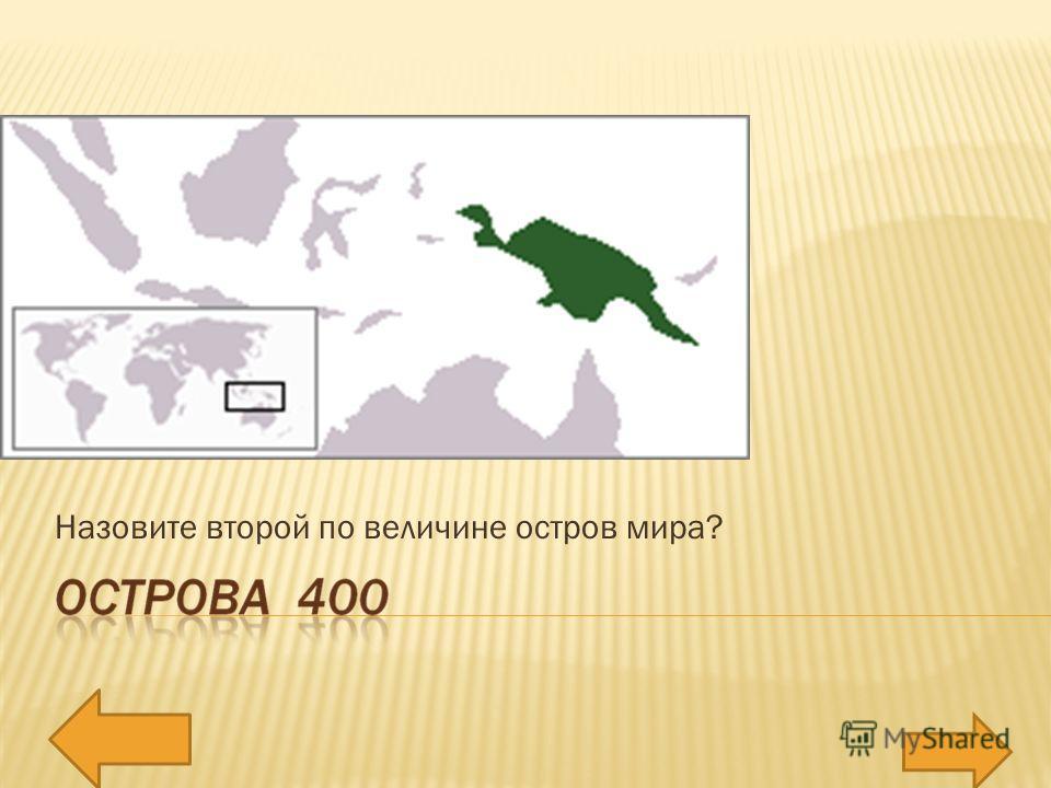 Назовите второй по величине остров мира?