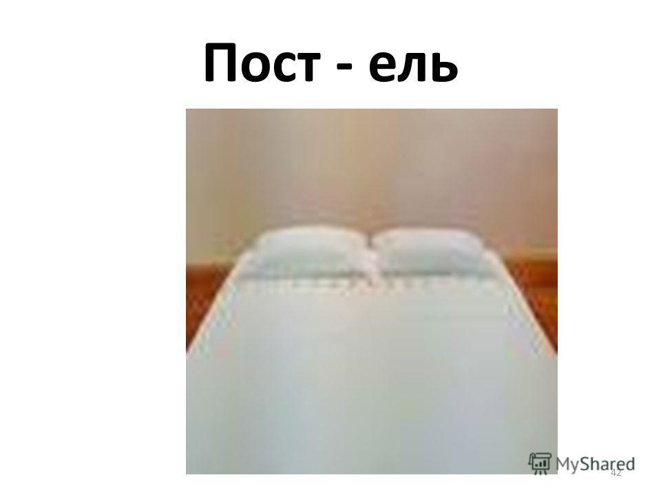 Пост - ель 42